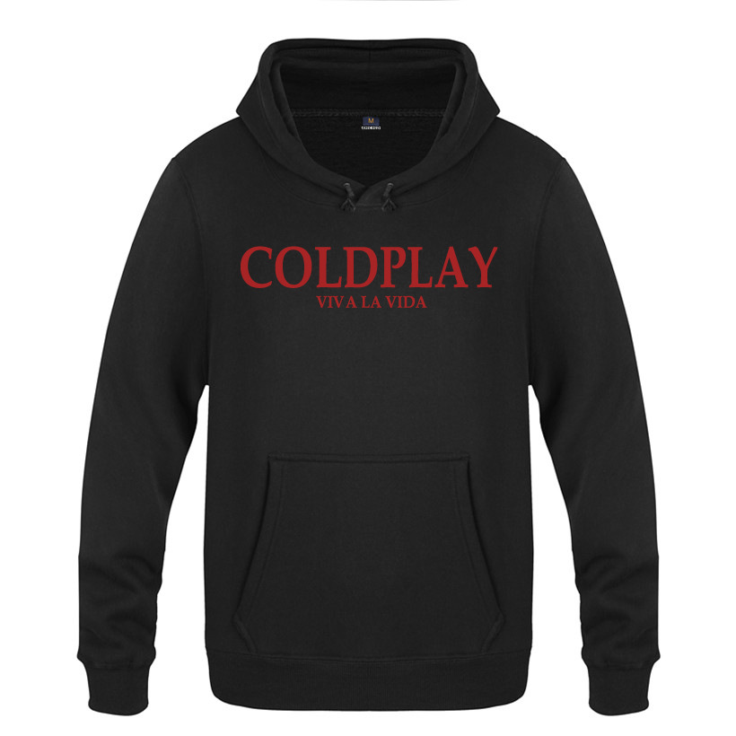 İngiltere Band Coldplay Coldplay Kazak Pamuk Kış Teenages Logo Sweatershirt Hoodies Hoody Viva La Vida