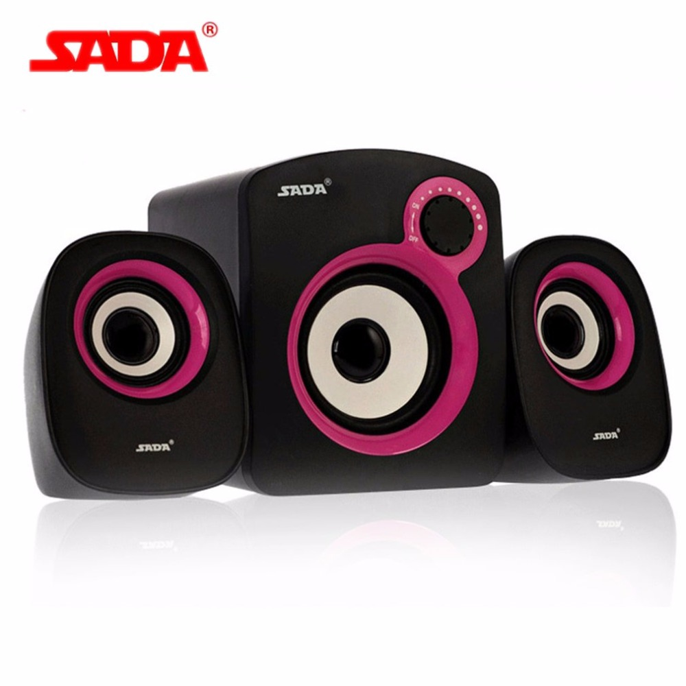 SADA Mini Stereo Hoparlör 3.5mm Ses Jack için Yardımcısı Ile Hoparlörler USB Powered Amplifikatör Hoparlör Masaüstü PC Laptop Cep telefon