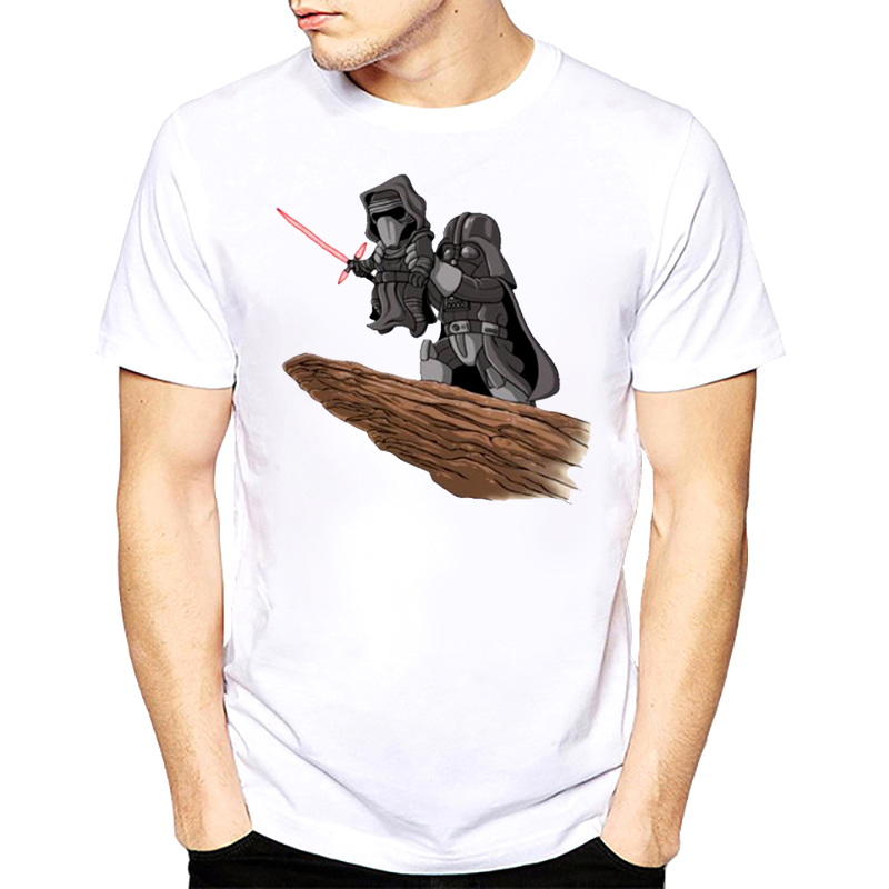 Star Wars T Shirt Darthwork Yoda Darth Vader Benzersiz Eril rogue tek T-Shirt Moda Erkekler 2017 Yaz tees Tops