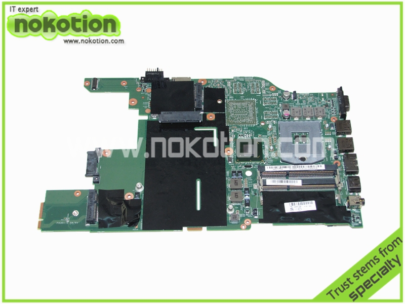 NOKOTION 04W0398 48.4MI04.021 Lenovo Thinkpad Edge E520 DDR3 için Laptop Anakart HM65 GMA HD 3000 DDR3 Anakart
