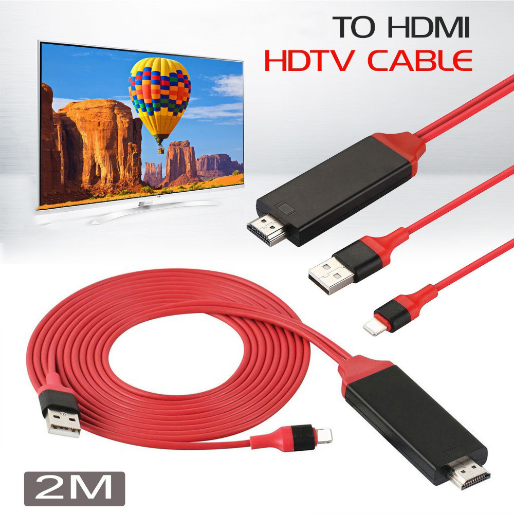 Yeni Çip Için iOS 10.3 11 Telefon Için HDMI TV AV Audio Video Kablosu iPhone X 8 artı 5/5 S/6/6 S/7 Artı için iPad Hava Pro Mini TV