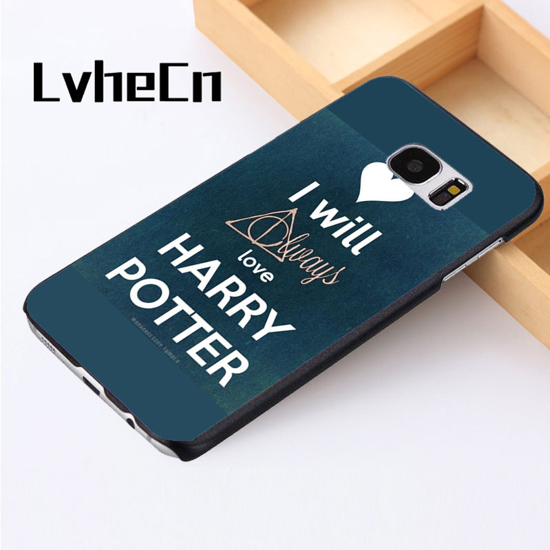 LvheCn telefon kılıfı kapak Için Samsung Galaxy S3 S4 S5 mini S6 S7 S8 kenar artı Note2 3 4 5 7 8 I Will Always Love Harry Potter
