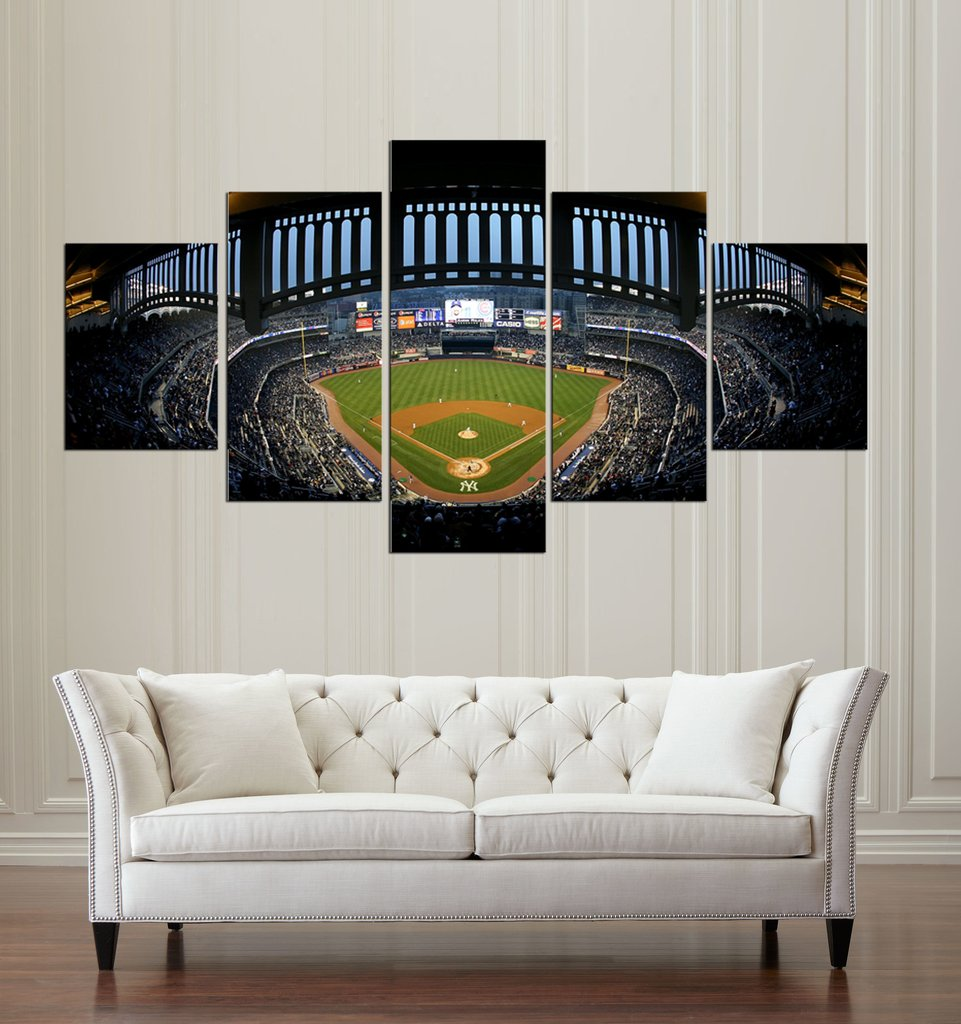 Modern Home Wall Decoration Canvas Modular Picture Art HD Printed Painting On Canvas 5 Pieces Baseball Stadium For Living Room